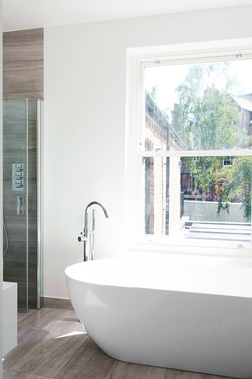 Hampstead Heath - residential house ful refurbishment extension bathroom design