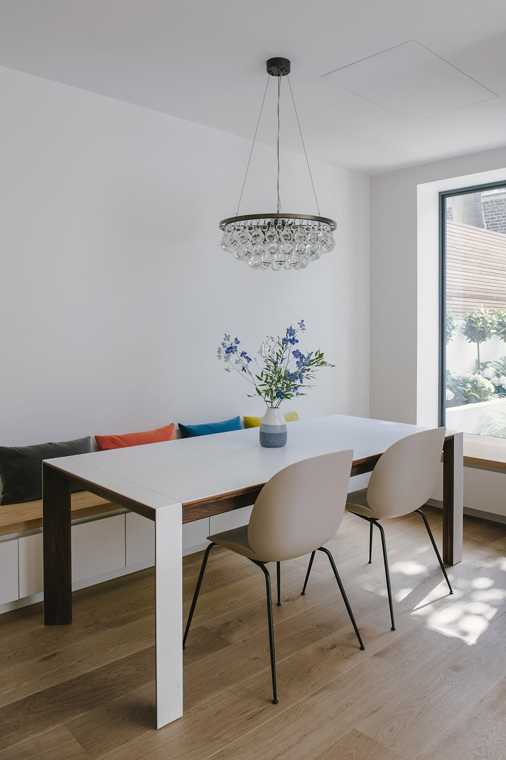 Maida Vale - Westminster garden flat extension refurbishment dining room bespoke joinery