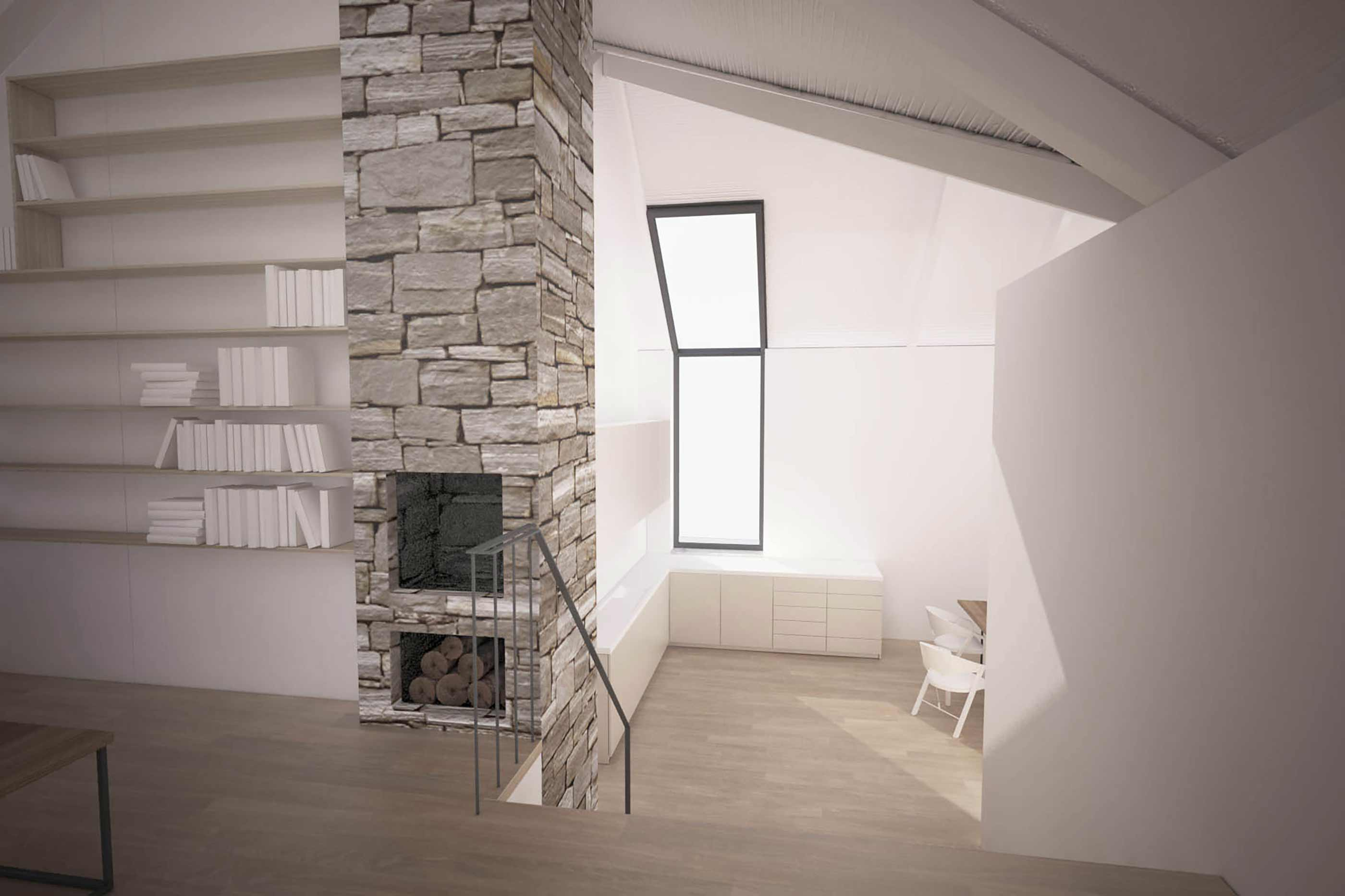 Cornwall - coastal new build house rural remote fireplace