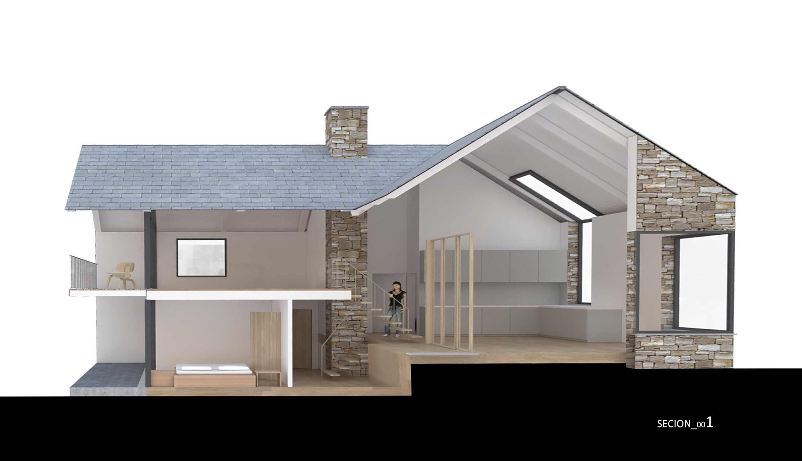 Cornwall coastal new build house rural remote sea views stone