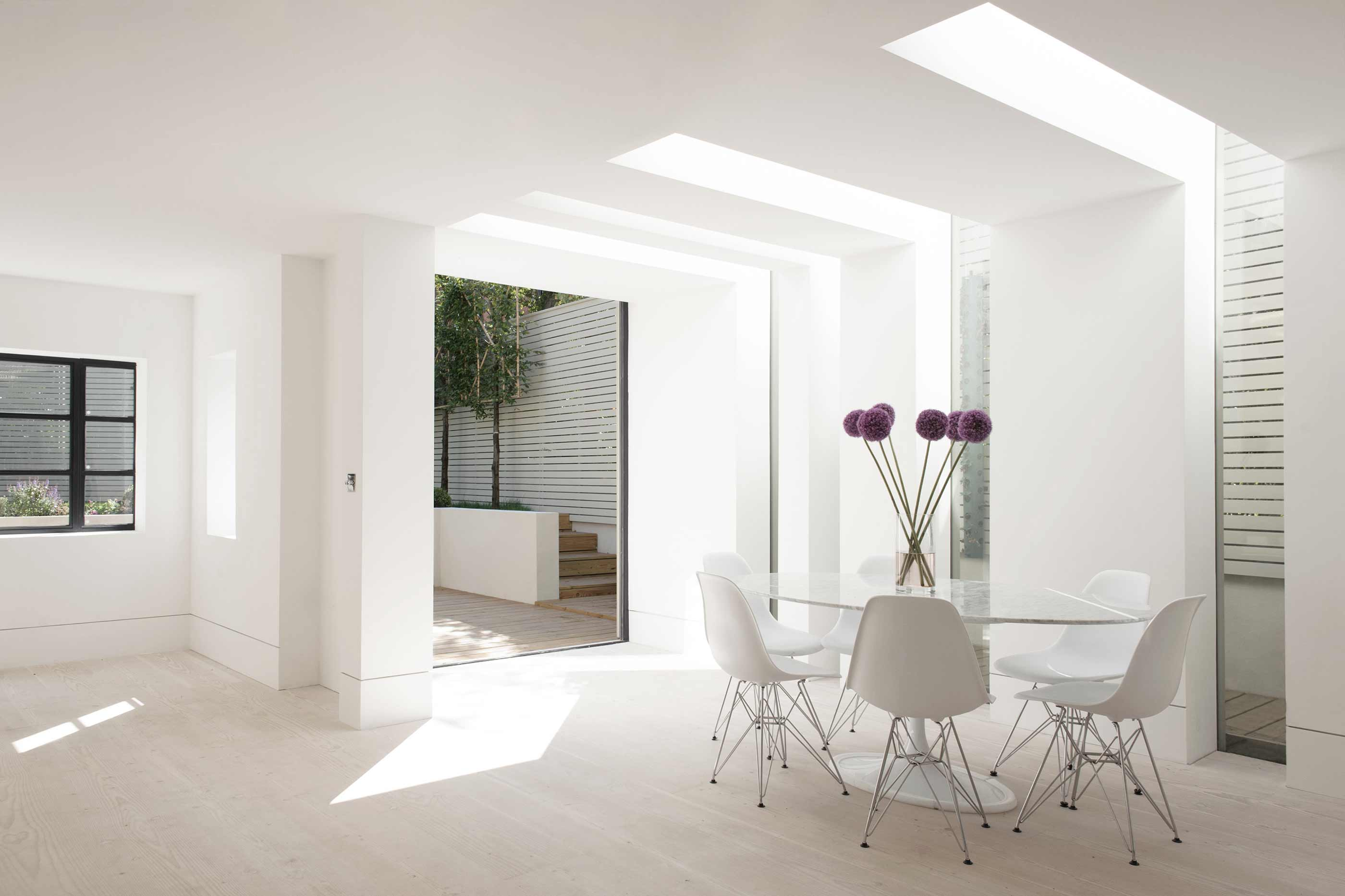 Hampstead Heath - residential house full refurbishment extension glass slots dinesen flooring