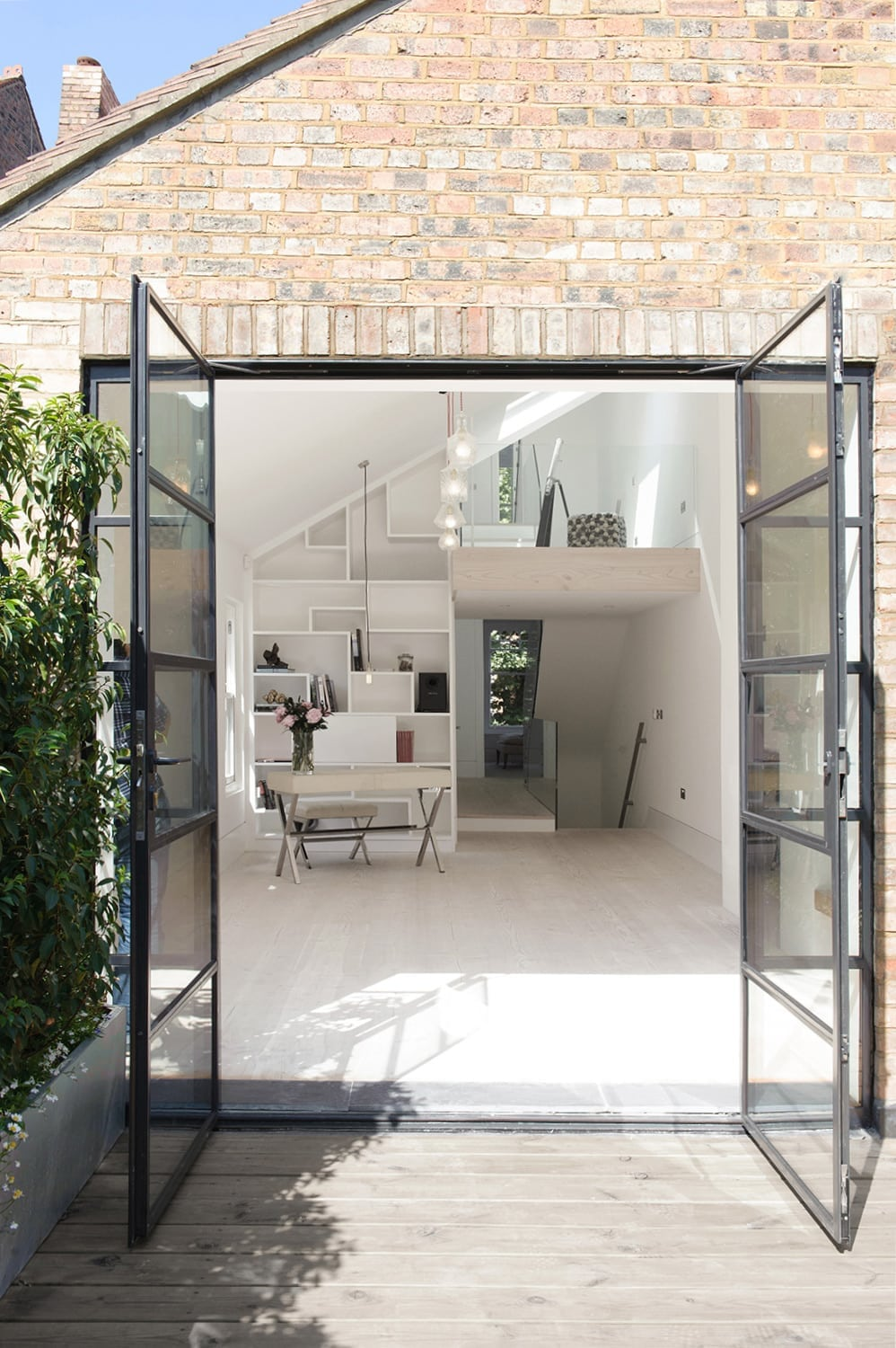 Hampstead Heath - residential house full refurbishment extension crittal patio doors terrace