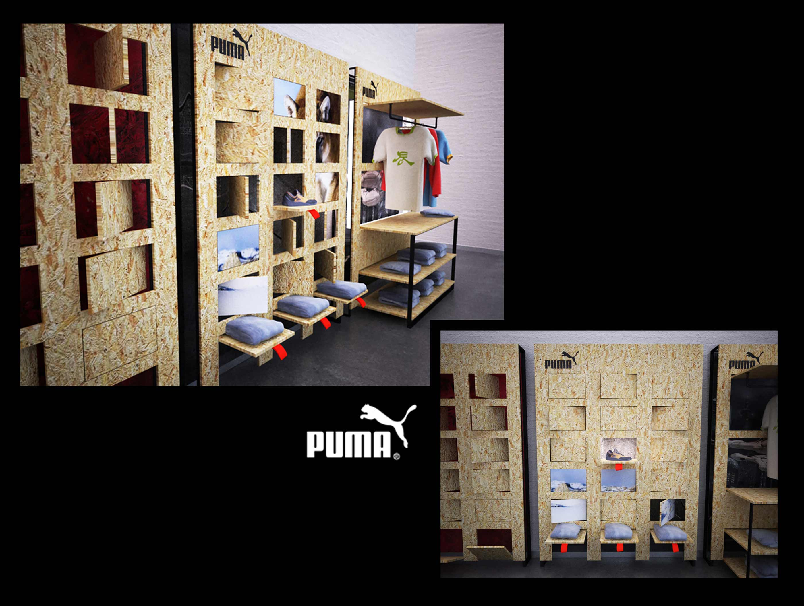 Puma - branding interior fit out retail design