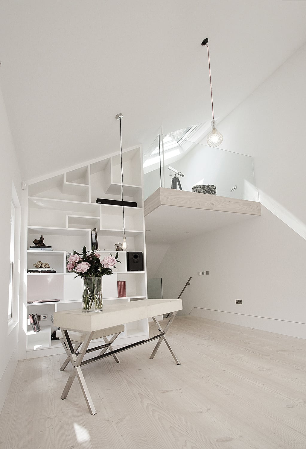 Hampstead Heath - residential house full refurbishment extension double height mezzanine
