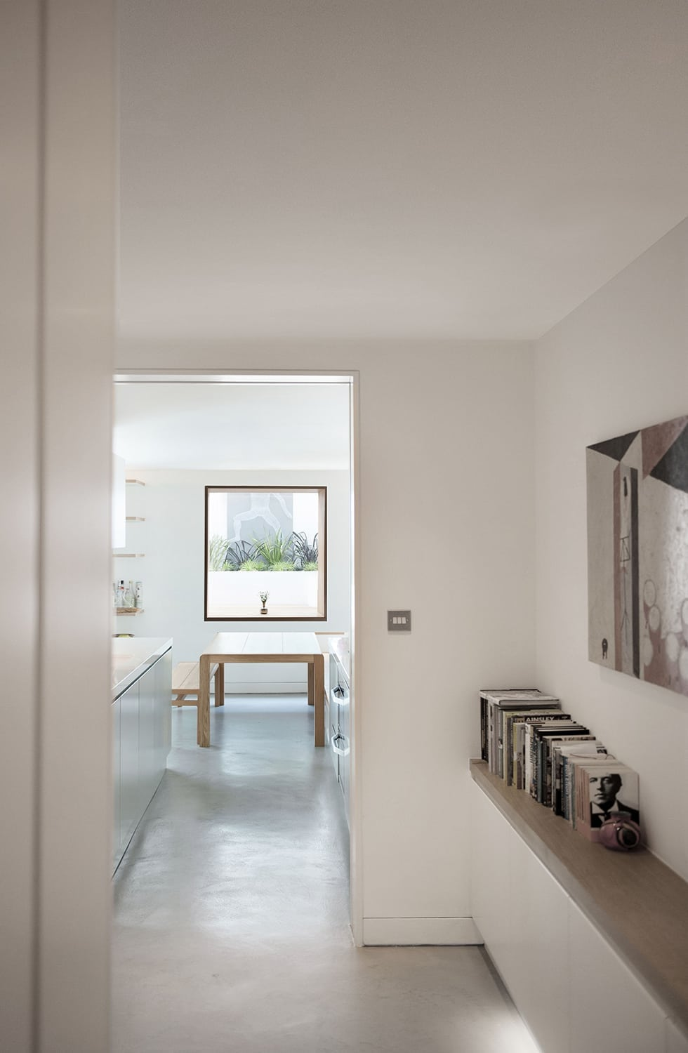 Notting Hill - Westbourne Grove garden flat extension crittall concrete floor skylight