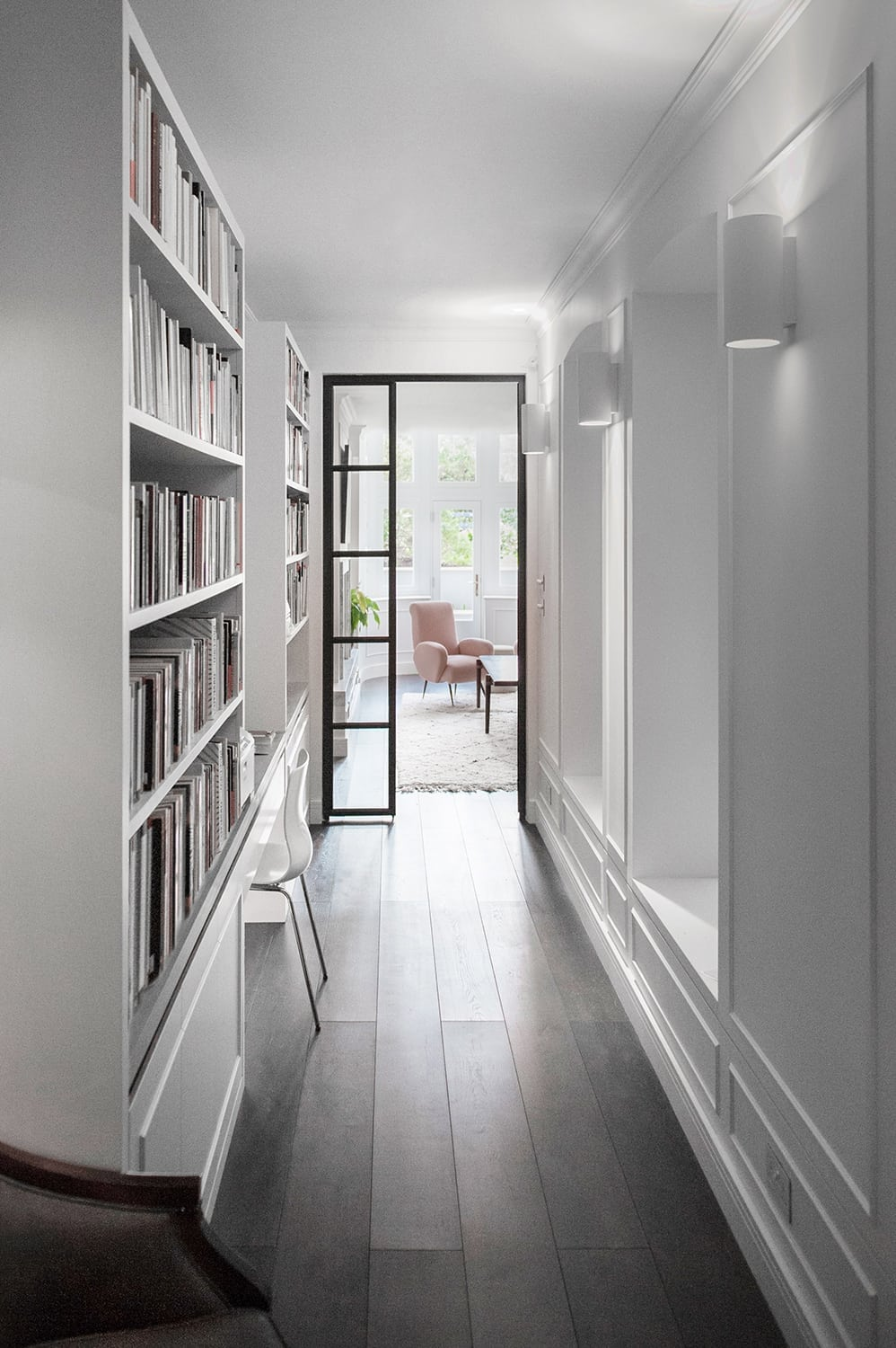 Notting Hill - mansion block refurbishment bespoke joinery traditional details crittall