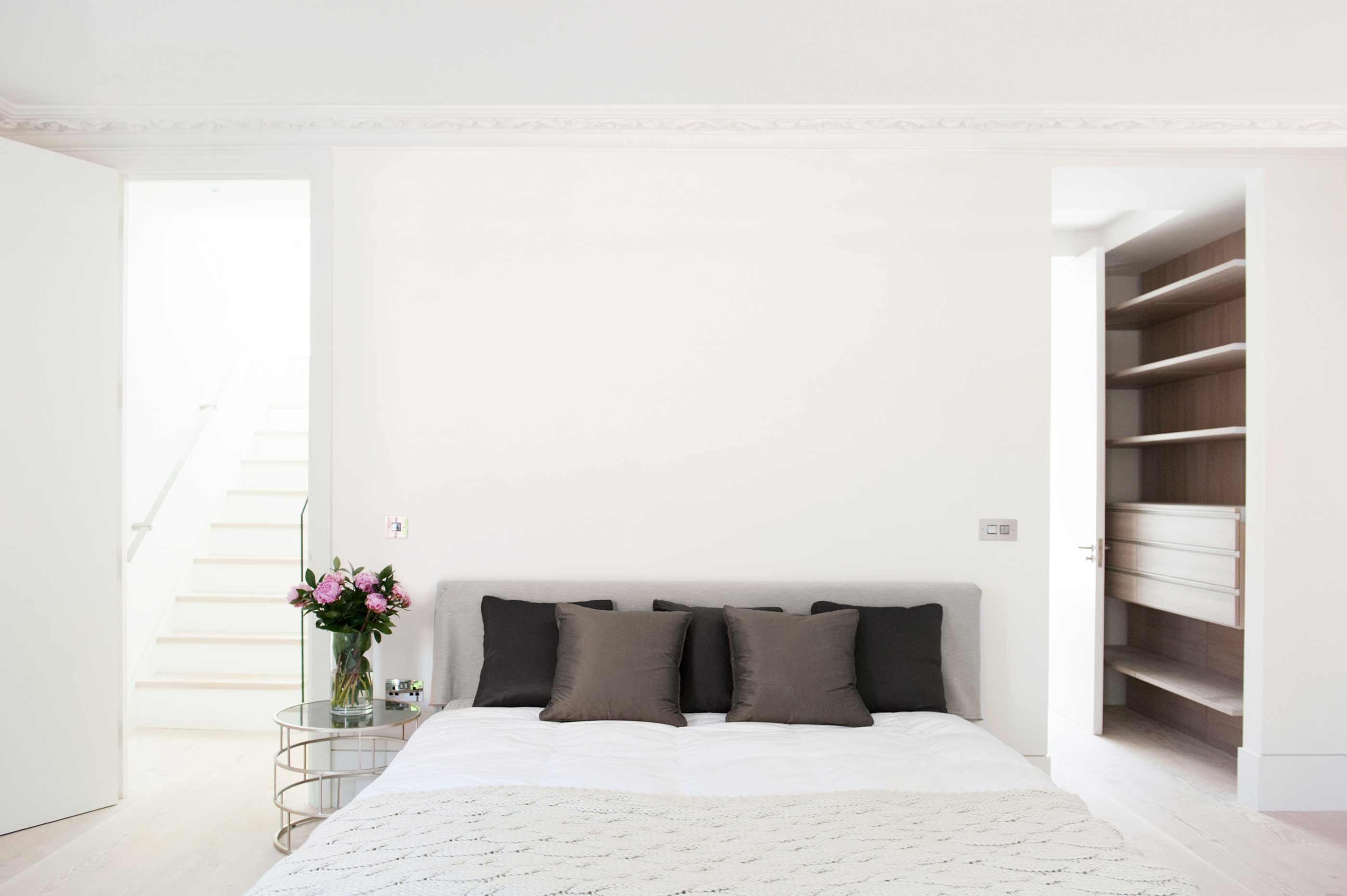 Hampstead Heath - residential house full refurbishment extension bedroom interior design