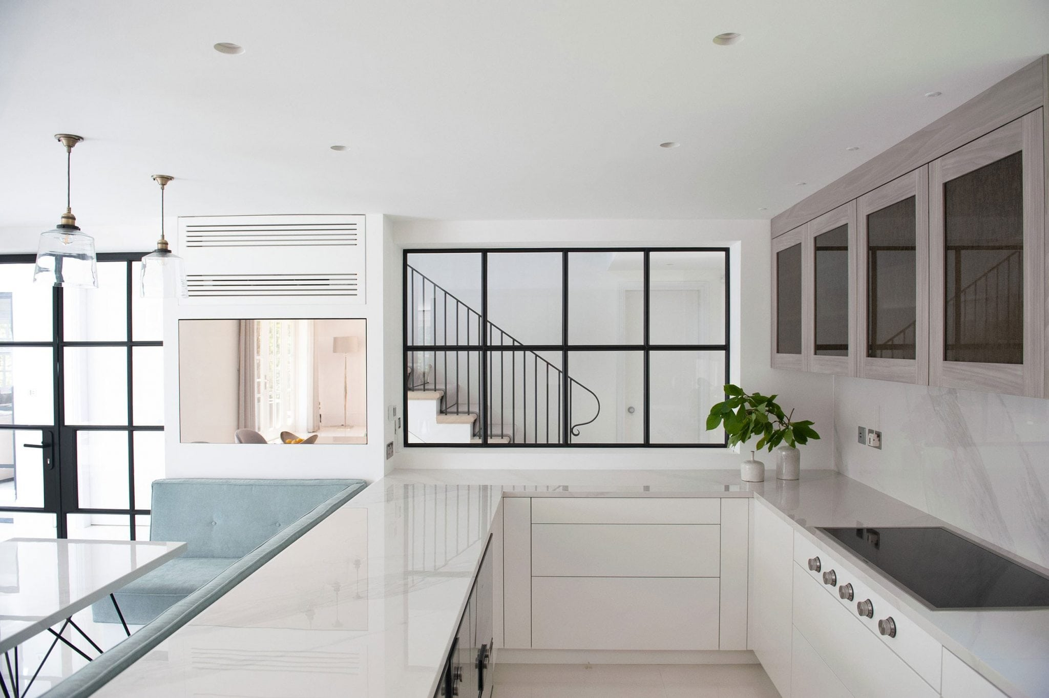Berkshire - mansion architecture bespoke kitchen porcelain Crittall