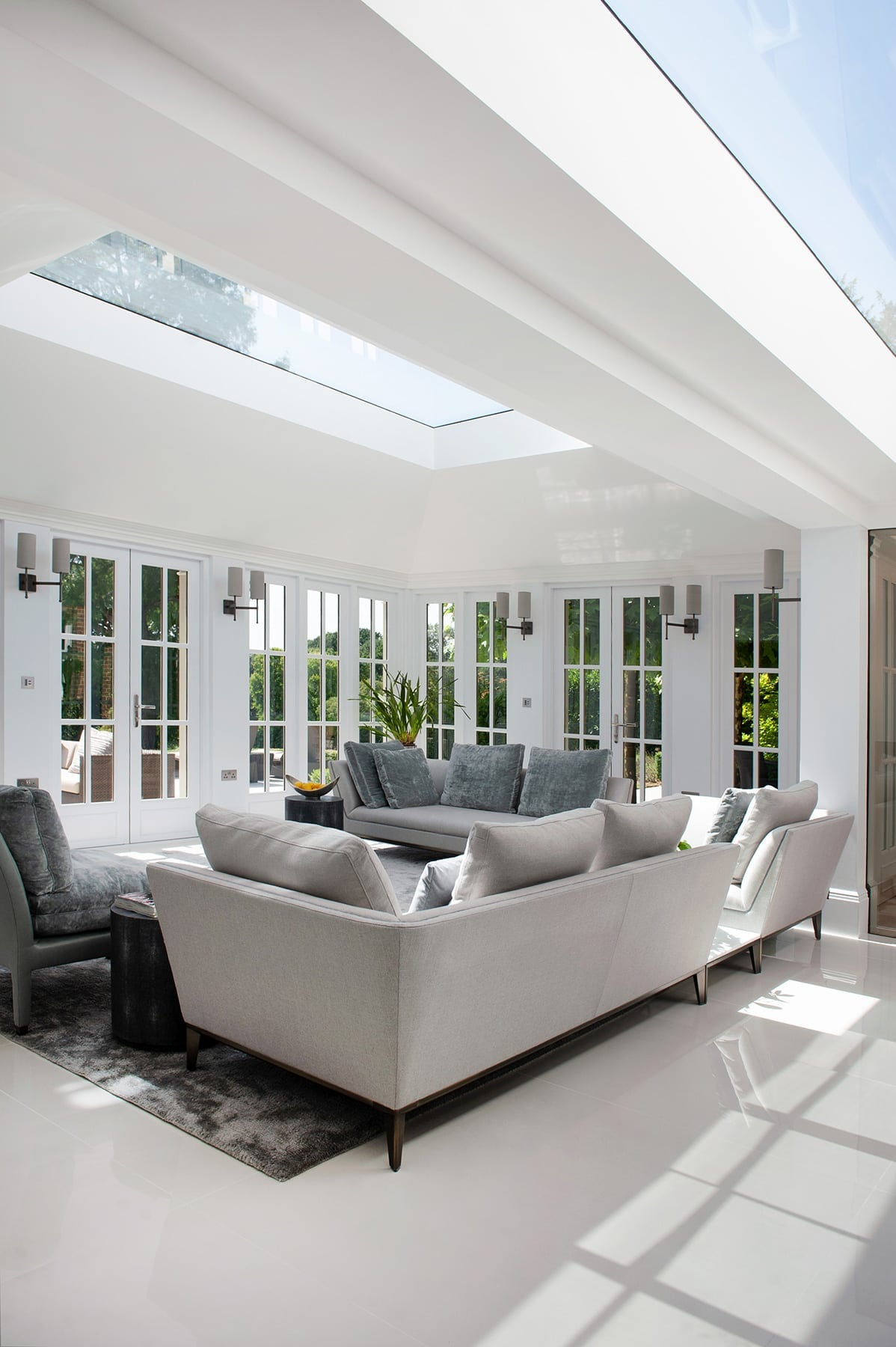 Berkshire - country mansion Georgian orangery interior design skylight